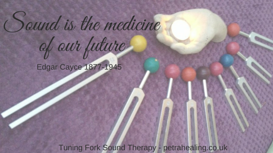 Sound is the medicine of our future.  Tuning fork sound therapy, Petra Healing, Suffolk