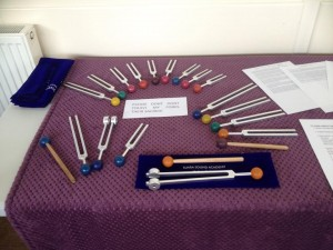 Sound Forks display at Cambridge Spiritual Church