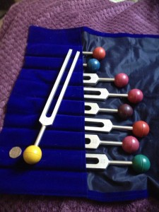 Solfeggio healing forks used at Petra Healing
