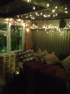 Evening in the outdoor treatment room