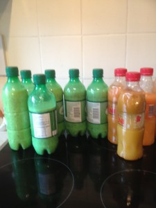 Sound infused healthy juices ready for the freezer